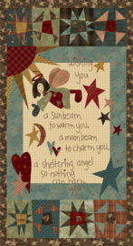 Quiltstof Irish Blessing Angel Panel - Janet Nesbitt