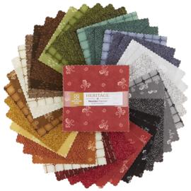 Charm Pack Woolies Flannel Heritage - Maywood Studio
