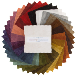 Charm Pack Colorwash Woolies Flannel - Maywood Studio