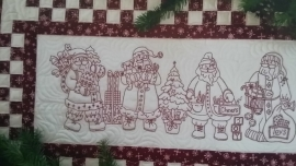 Santa Quartet Table Runner