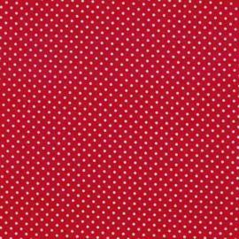 Quiltstof rood met witte stip 830 - Andover Fabrics