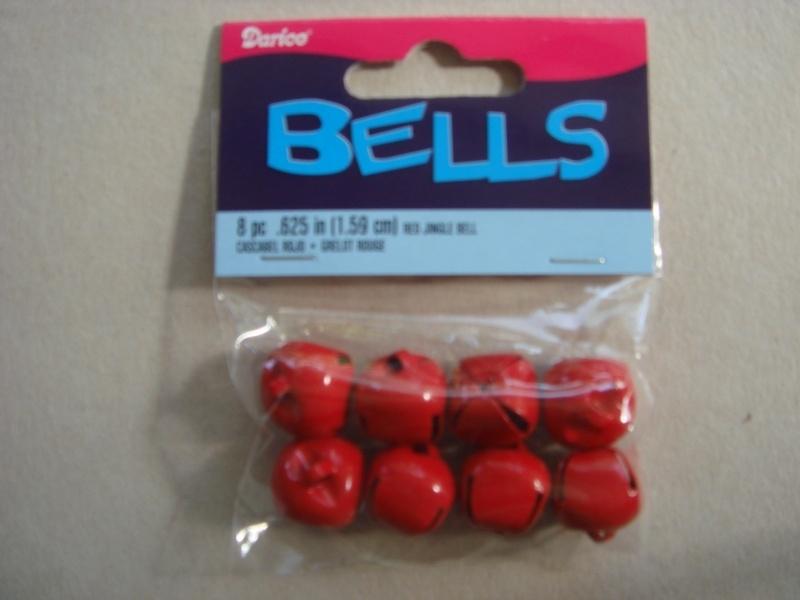 Rode belletjes, 8 stuks (1.59 cm)