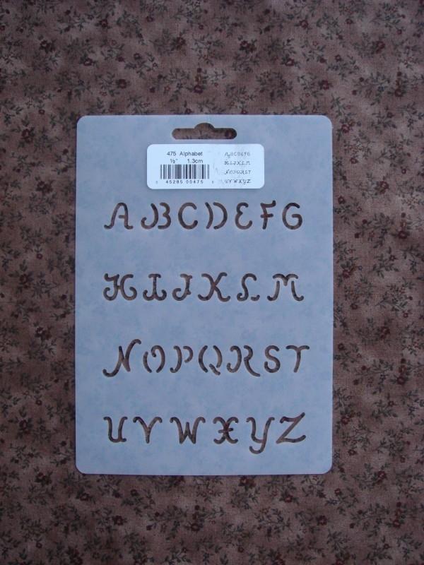 """Alfabet ½"""" (1.3 cm)"""
