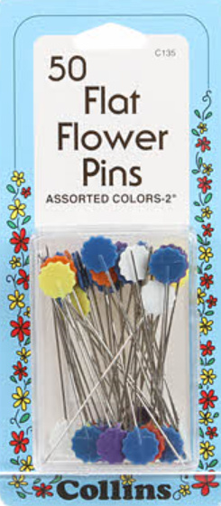 Flower Pins, 50 stuks