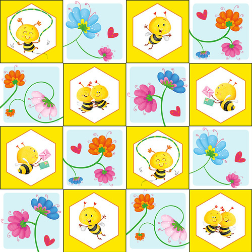 Quiltstof Busy Bees 1409-44