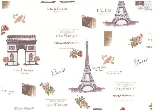 Quiltstof met thema Parijs.