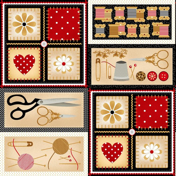 Quiltstof Sewing Mends the Soul (patchwork)