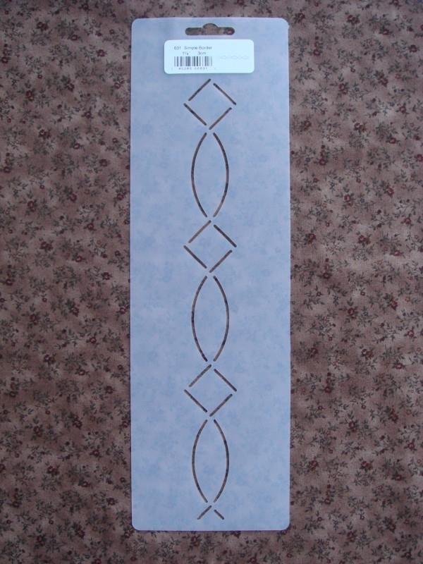 "Simple Border 1 1/4"" (3 cm)"