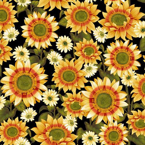 Quiltstof Sunflower 2662-99 - Pumpkin Harvest