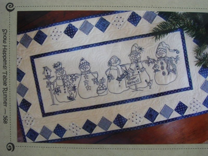 Snow Happens!  (Table runner)