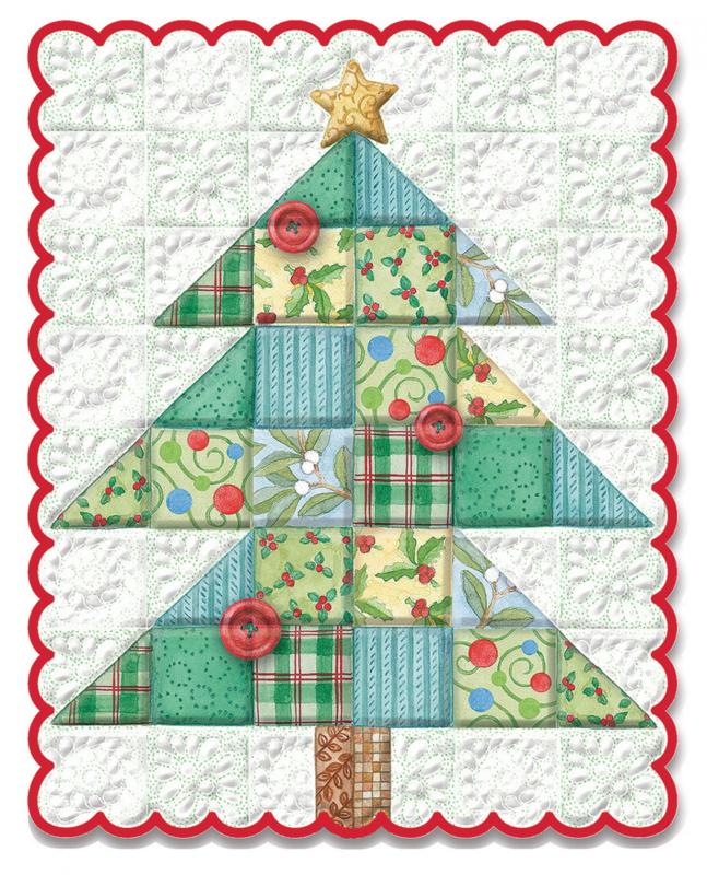 Kerstkaart met quilt