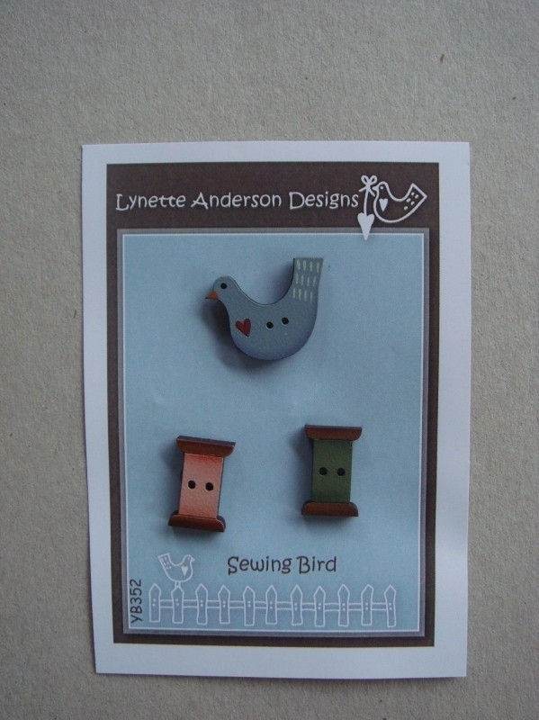 Sewing Bird Button Pack