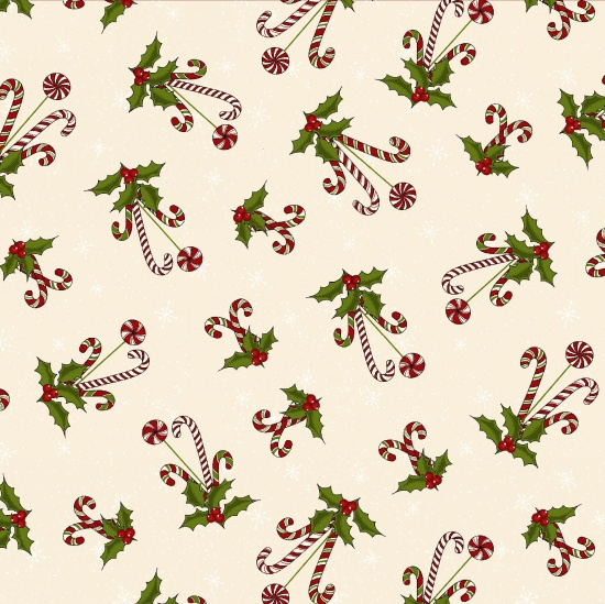 Quiltstof Reindeer Magic - Holly Hill Designs 8780-44