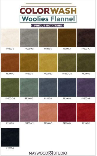 Charm Pack Woolies Flannel Color Wash - Maywood Studio