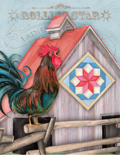 Ansichtkaart Quilt Chicken