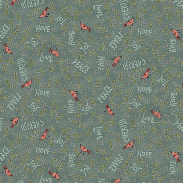 Quiltstof Under the Mistletoe - Hatched and Patched 8335-11