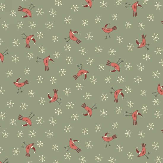 Quiltstof Home for Christmas - Hatched and Pathed 2073-11