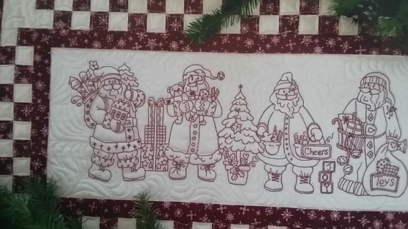Santa Quartet Table Runner