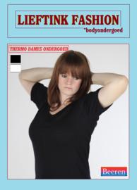 ACTIE: THERMO DAMES SHIRT K.M. ZWART - WINTERSPORT ONDERGOED *bodyondergoed