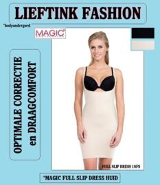 ACTIE: MAGIC FULL SLIP DRESS ZWART en HUID 10FS *corrigerend bodyondergoed