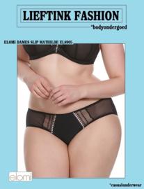 ACTIE: ELOMI ZWARTE SLIP MATHILDE  Maat M t/m XXL *bodyondergoed
