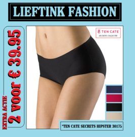EXTRA ACTIE: 2 x TEN CATE DAMES SECRETS HIPSTER 30175 (Invisible Underwear) bodyondergoed