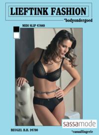 ACTIE SASSA MODE: BEUGEL B.H. 24790 - WIT en ZWART- BODY LINGERIE - *casualunderwear