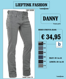 ACTIE: BRAMS PARIS HEREN STRETCH JEANS DANNY - Grey Denim (13345C70) *actiejeans