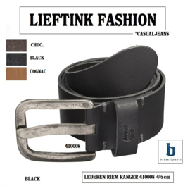 ACTIE: RANGER MEN'S REAL LEATHER BELT BRAMS PARIS  4,5 CM (410008)