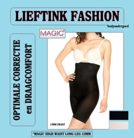 ACTIE: MAGIC HIGH WAIST LONG LEG ZWART en HUID 13MM *corrigerend bodyondergoed