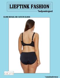 ACTIE: ELOMI CAITLYN ZWARTE BEUGEL BH  CUP G t/m K *bodyondergoed