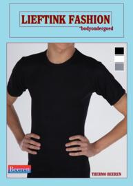 ACTIE: THERMO HEREN BEEREN T-SHIRT K.M. ZWART WINTERSPORT ONDERGOED *casualunderwear