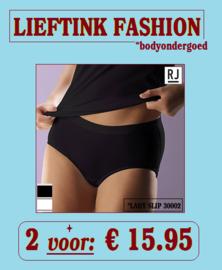 ACTIE: 2 x RJ - DAMES MAXI SLIP 95/5 30002 - WIT en SLIP - BODY LINGERIE * casualunderwear
