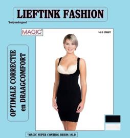 ACTIE: MAGIC SUPER CONTROL DRESS ZWART en IVOOR 14LD *corrigerend bodyondergoed