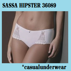 ACTIE SASSA MODE: HIPSTER 36089  - WIT en ZWART - BODY LINGERIE - *casualunderwear