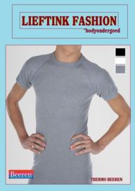 ACTIE: THERMO HEREN BEEREN T-SHIRT K.M. GRIJS WINTERSPORT ONDERGOED *casualunderwear