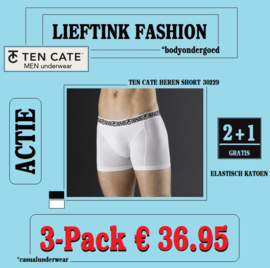 ACTIE 3-Pack (2+1 Gratis): TEN CATE HEREN BOXERSHORT 30229 *bodyondergoed