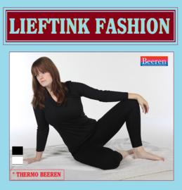 ACTIE: THERMO DAMES SHIRT L.M. ZWART - WINTERSPORT ONDERGOED *bodyondergoed
