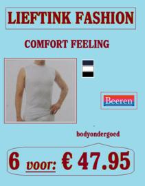 ACTIE: 6 x MOUWLOOS SHIRT COMFORT FEELING (4 zijdig Elastisch Katoen) BEEREN *bodyondergoed