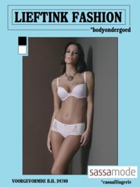 ACTIE: SASSA VOORGEVORMDE B.H. 24789 WIT en ZWART - BODY LINGERIE - *casualunderwear