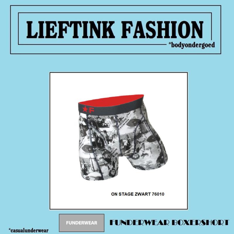 ACTIE 2 x FUNDERWEAR  ASSORTI PRINT HEREN BOXER (KLEUR KEUZE PRINT) *casualunderwear