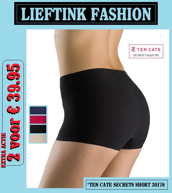 VOORJAARS ACTIE: 2 x TEN CATE DAMES SECRETS SHORT 30178 (Invisible Underwear) *bodyondergoed