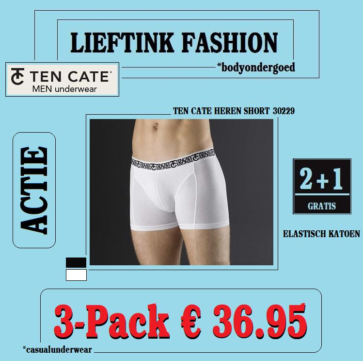ACTIE 3-Pack (2+1 Gratis): TEN CATE HEREN BOXERSHORT 30229 *bodyondergoed