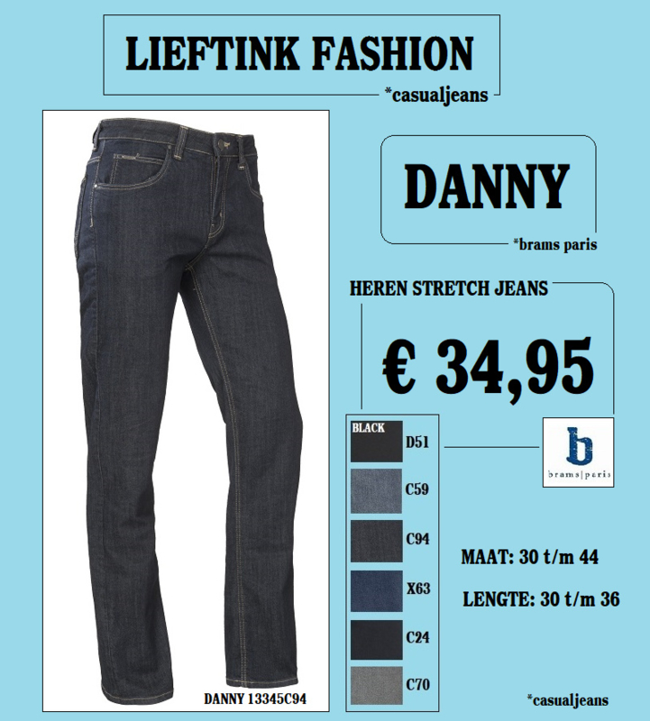 ACTIE: BRAMS PARIS STRETCH DANNY - Blue/Black Dark Mercerized Denim (13345C94) - *casualjeans