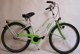 BIKE FUN KIDS CRAZY CRUISER GIRLS 24 INCH WIT / GROEN