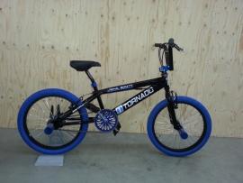 BMX Freestyle / Crossfiets BUGATTI TORNADO GLANS ZWART / BLAUW 20 INCH LIMITED EDITION