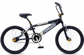 BMX Freestyle / Crossfiets BUGATTI TORNADO MAT ZWART / GOUD 20 INCH FREESTYLE