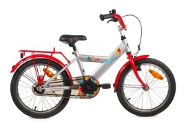 BIKE FUN KIDS SPACE 16 INCH ZILVER/ROOD