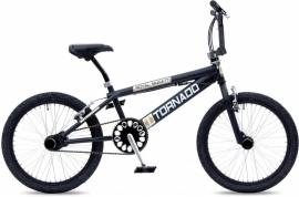 BMX Freestyle / Crossfiets BUGATTI TORNADO MAT ZWART 20 INCH FREESTYLE