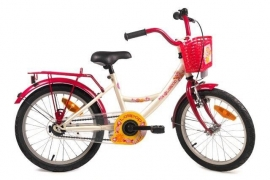 BIKE FUN KIDS LOLLIPOP CREME/ROOD 12 INCH